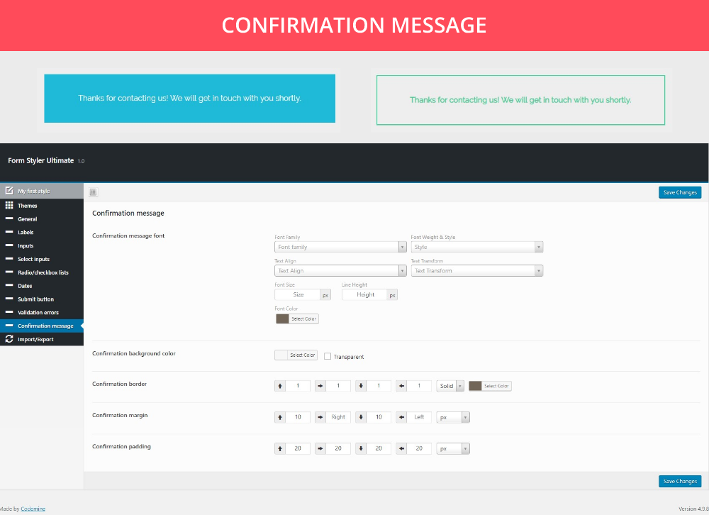 Form Styler Ultimate |  Gravity Forms, Ninja Forms, CF7 (Contact Form 7), WooCommerce - 10